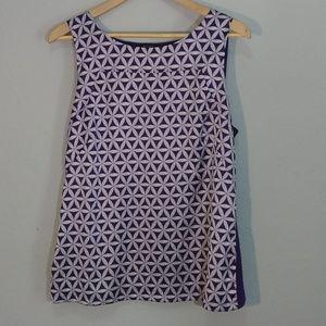 ANN TAYLOR Dressy Purple Print Tank